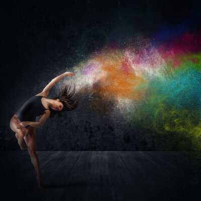 Fototapet Dans med färgpigment