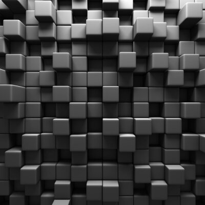 Fototapet Dark Grey Blockkub vägg bakgrund