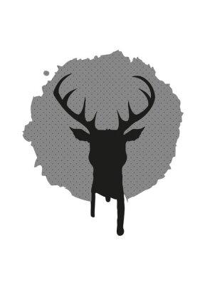 Fototapet Deer huvud Graffiti