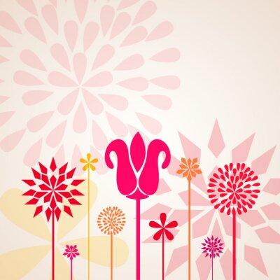 Fototapet dekorativa blommor