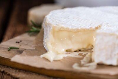 Fototapet Del av krämig Camembert