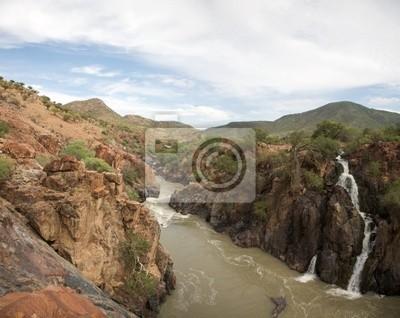 Fototapet Den Epupa Falls ligger på Kunenefloden