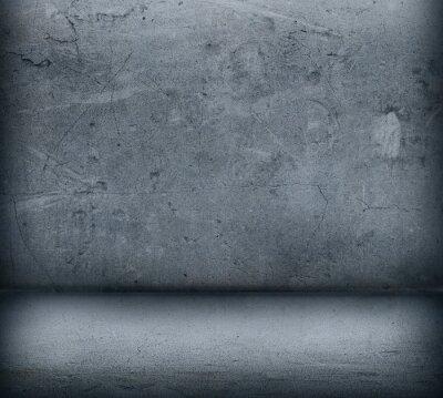 Fototapet Den grå betongvägg och golv närbild