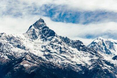 Fototapet Den Machhapuchhre (Fish Tail) i Annapurna regionen, Nepal. Film emulering filter tillämpas.