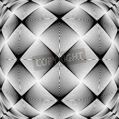 Fototapet Design monokrom dekorativ bakgrund. Abstract trellised textur. Vektorkonstillustration. ingen gradient
