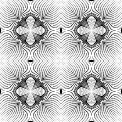 Fototapet Design sömlös monokrom geometriska mönster