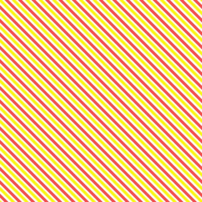 Fototapet Diagonal rand seamless. Geometrisk klassisk gul och röd linje bakgrund.