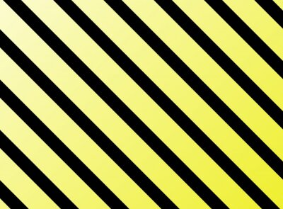 Fototapet Diagonala ränder gul svart