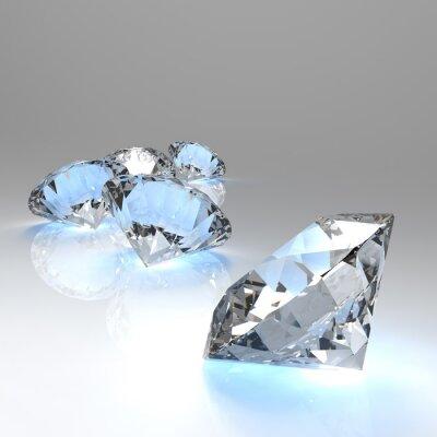 Fototapet Diamanter 3d i sammansättning