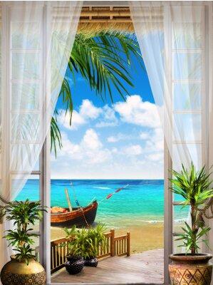 Fototapet Digital utomhus. tropisk view