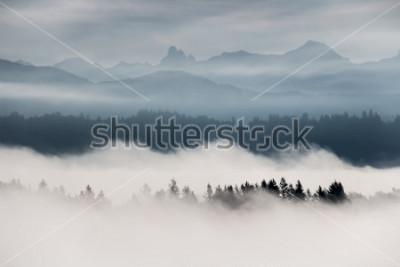 Fototapet Dimmigt bergslandskap i British Columbia, Kanada