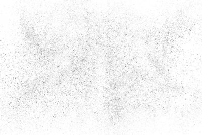 Fototapet Distressed black texture. Dark grainy texture on white background. Dust overlay textured. Grain noise particles. Rusted white effect. Grunge design elements. Vector illustration, EPS 10.