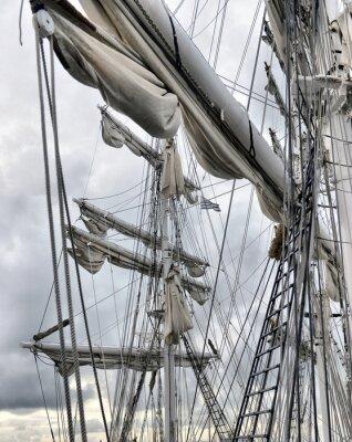 Fototapet Dockside gamla segelfartyg