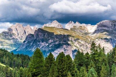Fototapet Dolomiterna Italien - Val Gardena - Passo Sella