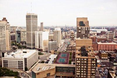 Fototapet Downtown Detroit