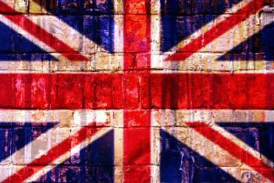 Fototapet Drapeau Royaume Uni gatukonst