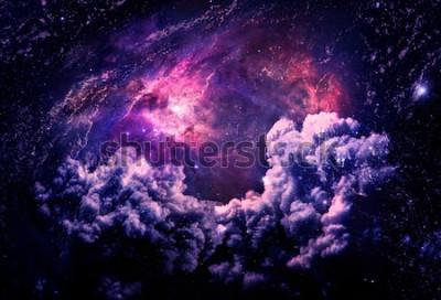 Fototapet Dreamscape Galaxy - Delar av denna bild möblerad av NASA