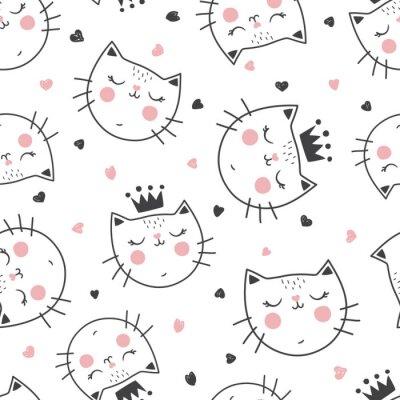 Fototapet drottning kattmönster