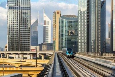 Fototapet Dubai metro
