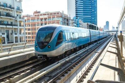 Fototapet Dubai metro järnvägs