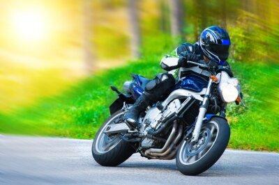 Fototapet Dynamisk motorcykel racing