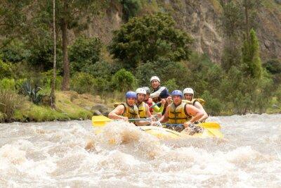 Fototapet Ecuador Whitewater River Rafting