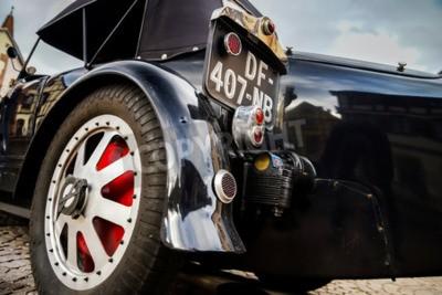 Fototapet Editorial den 12 september 2015 Frankrike: XXXIIeme Festival Enthousiastes Bugatti i Molsheim. Tappning bil.