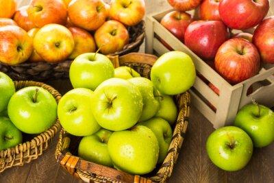 Fototapet ekologiska äpplen