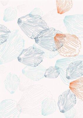 Fototapet Elegant bakgrund med kronblad
