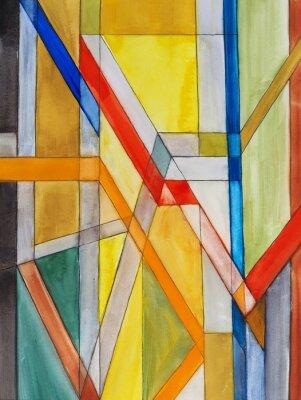 Fototapet en abstrakt akvarellmålning