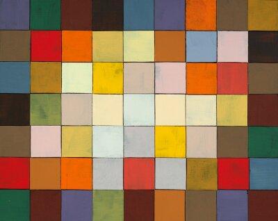 Fototapet en abstrakt målade collage