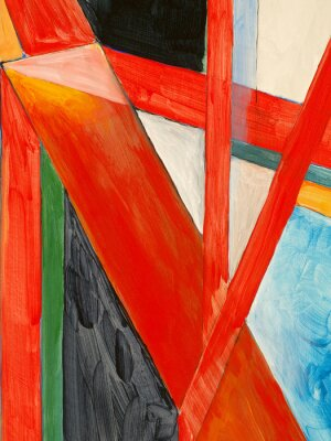Fototapet en abstrakt målning