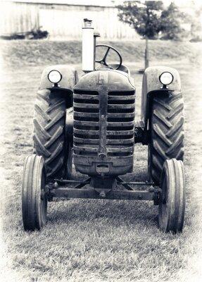 Fototapet En gammal Jordbrukstraktor - Lätt tonad