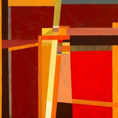 Fototapet en modernistisk abstrakt målning