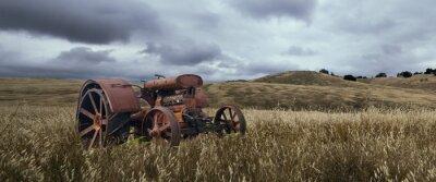 Fototapet ensam Traktor