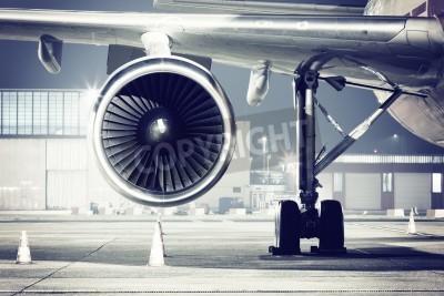 Fototapet ett flygplan turbin detalj