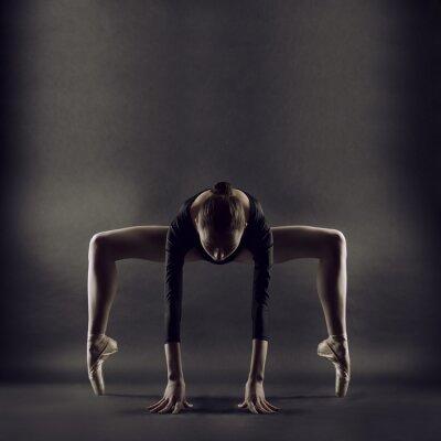 Fototapet Ett porträtt av ung vacker gymnast kvinna