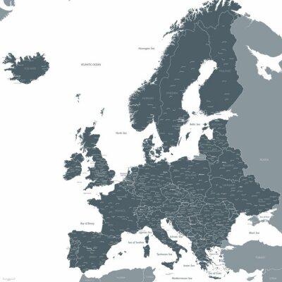 Fototapet Europa översiktsvektor