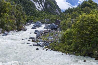 Fototapet Exploradores flod, Chile