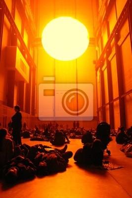 Fototapet falsk sol och publik på London