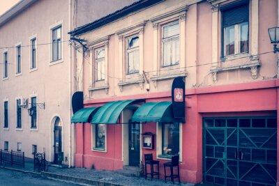 Fototapet Fantastiska retro atmosfär av Uzhhorod centrum - coffee house