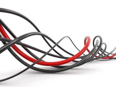 Fototapet Färgade kablar. Bild med urklippsbana.