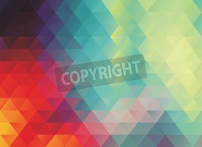 Fototapet Färgglad polygonal abstrakt vektortextur eller bakgrund