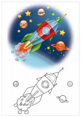 Fototapet färgning av rymdskepp