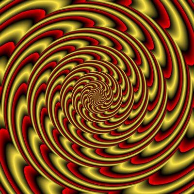 Fototapet Färgrik abstrakt hypnotiskt färgrik tunnel