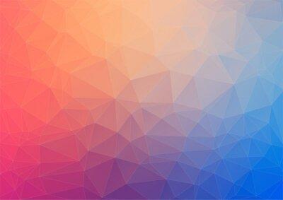 Fototapet Färgrik geometrisk bakgrund med trianglar