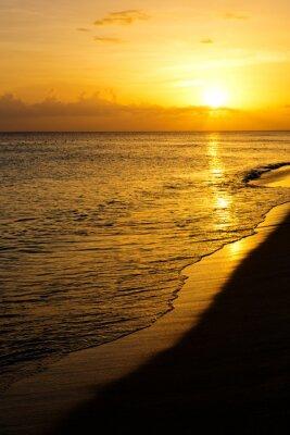 Fototapet Färgrik hav solnedgång.