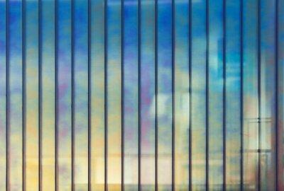 Fototapet Färgrik kontorsvägg av glas, bakgrund