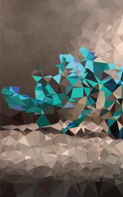 Fototapet Färgrik polygonal bakgrund
