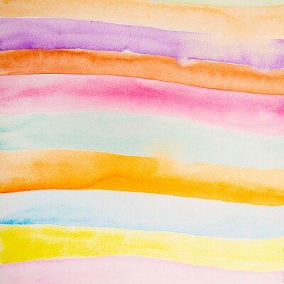 Fototapet färgrik remsor vatten färg